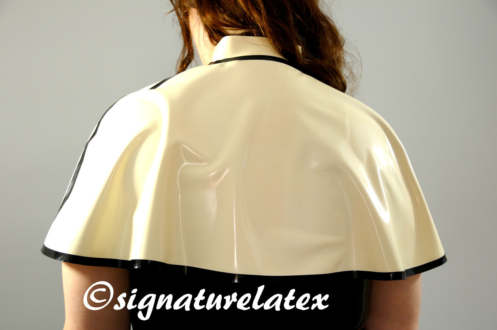 Latex Cape with collar